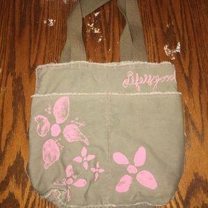 Vintage Life is Good Distressed Canvas Tote Bag